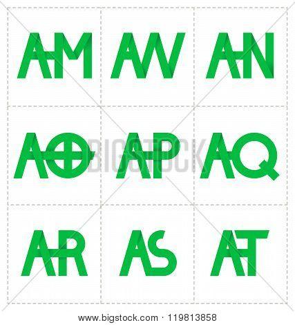 Moderm Minimalis Initial Logo
