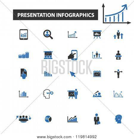 presentation infographics icons, presentation infographics logo, presentation infographics vector, presentation infographics flat illustration concept, presentation infographics symbols,