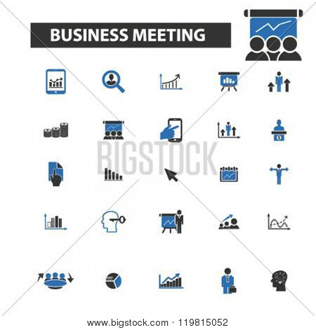 business meeting icons, business meeting logo, business meeting vector, business meeting flat illustration concept, business meeting infographics, business meeting symbols,