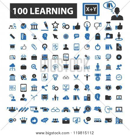 learning icons, learning logo, learning vector, learning flat illustration concept, learning infographics, learning symbols,