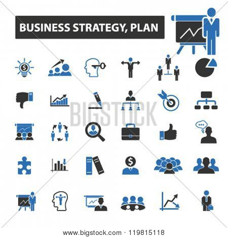 business plan icons, business plan logo, business plan vector, business plan flat illustration concept, business plan infographics, business plan symbols,