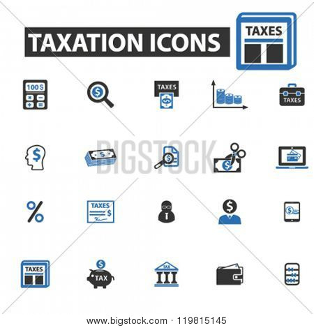 taxation icons, taxation logo, taxation vector, taxation flat illustration concept, taxation infographics, taxation symbols,