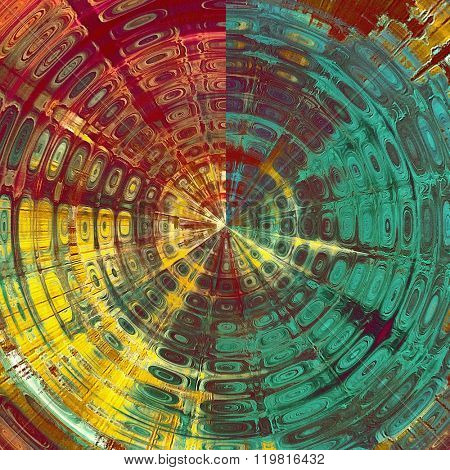 Spherical ancient grunge background texture. With different color patterns: yellow (beige); green; blue; pink; red (orange)