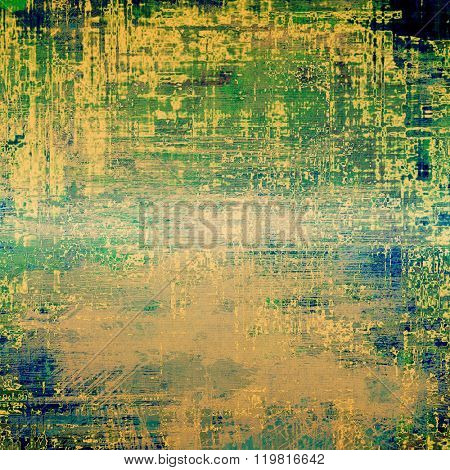 Abstract grunge textured background. With different color patterns: yellow (beige); brown; green; blue