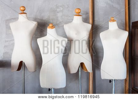 Mannequin Tailors In Storage Room