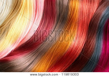 Hair Colors Palette Texture Background Colours Set Tints Dyed Color Samples Poster Id 119819303