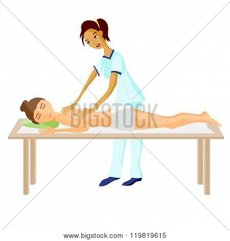 vector illustration of woman pampering herself by enjoying day s