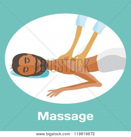 vector illustration of man pampering herself by enjoying day spa