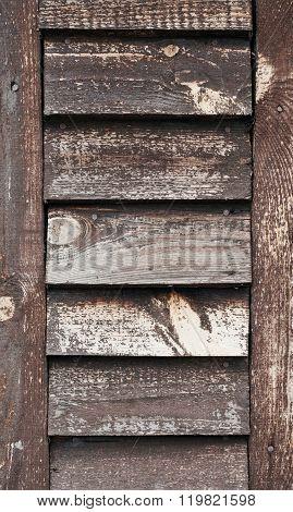 Old Wooden Shutters Closeup