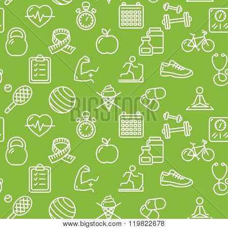 Health Life Fitness Background. Vector
