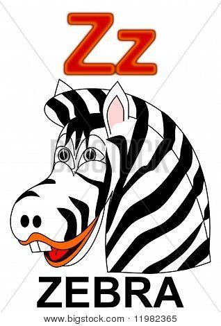 """Letter """"Z"""" zebra"""