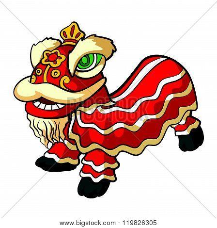 chinesse lion dance