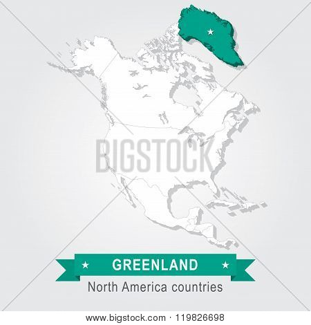 Greenland. All the countries of North America.