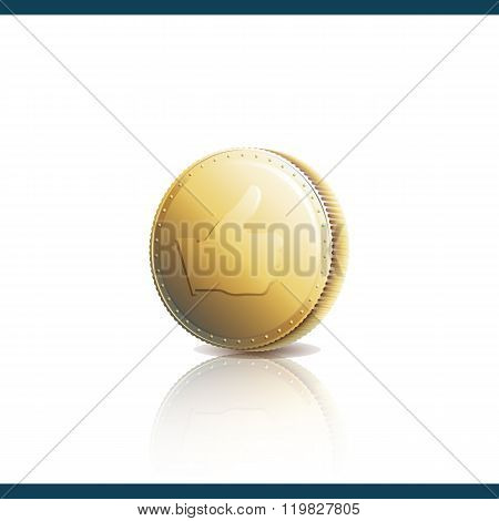 Thumb Up On Gold Coin