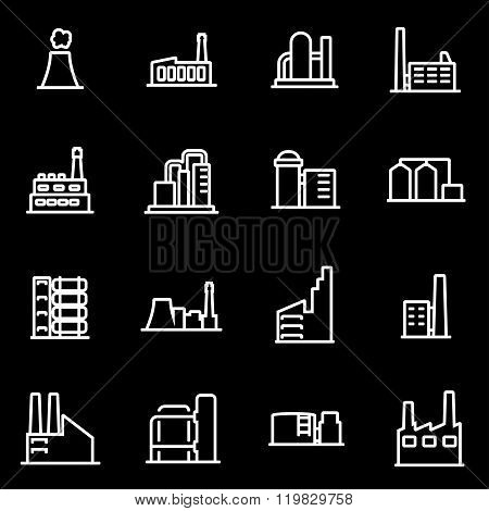 Vector Line Factory Icon Set