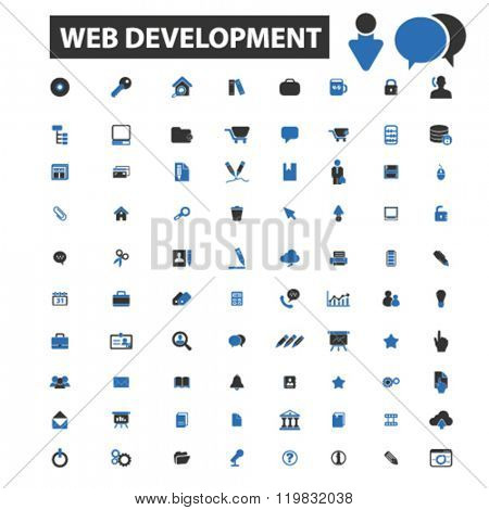 web development icons, web development logo, web development vector, web development flat illustration concept, web development infographics, web development symbols,