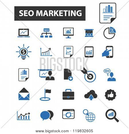 seo marketing icons, seo marketing logo, seo marketing vector, seo marketing flat illustration concept, seo marketing infographics, seo marketing symbols,