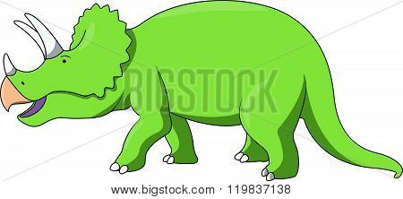 Triceratop cartoon illustration