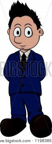 Politician boy cartoon illustration design