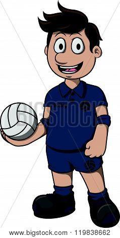 Volley ball cartoon illustration