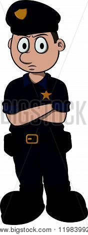 Police vector cartoon illustration design
