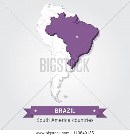 Brazil. All the countries of South America.