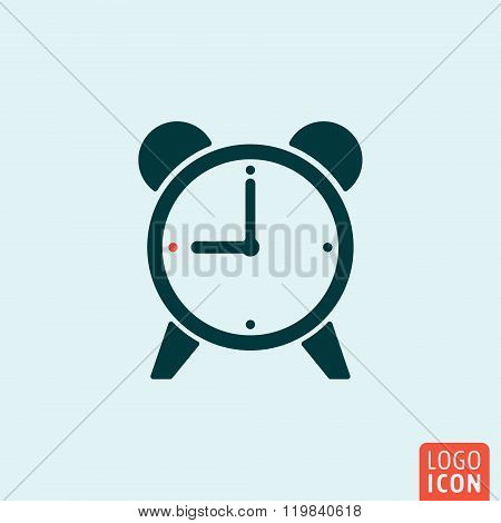 Alarm clock icon isolated
