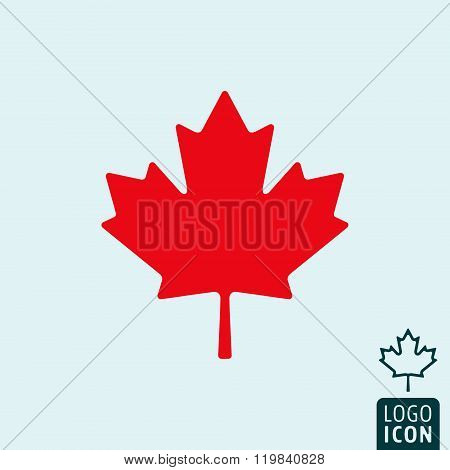 Canada icon isolated