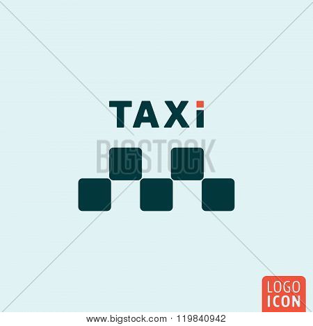 Taxi icon isolated