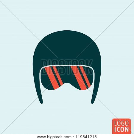 Helmet icon isolated