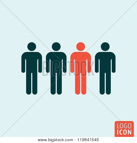 People icon isolated