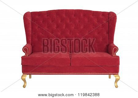 Red Sofa In The English Style