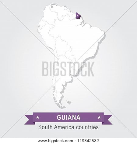 Guiana. All the countries of South America.