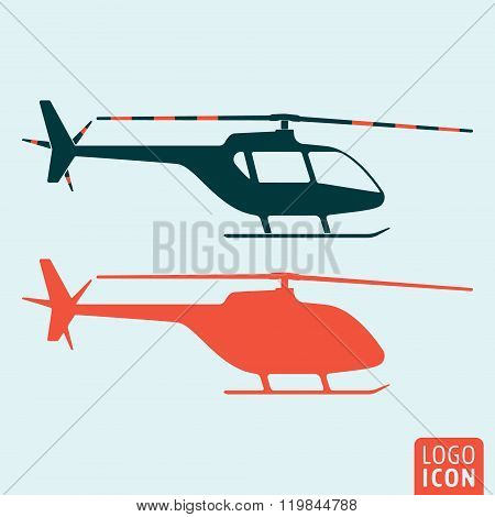 Helicopter Icon Isolated