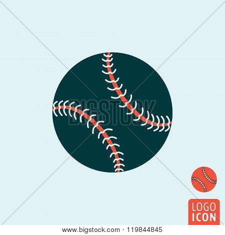Baseball Ball Icon Isolated