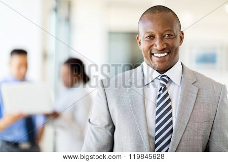 good looking african american business executive