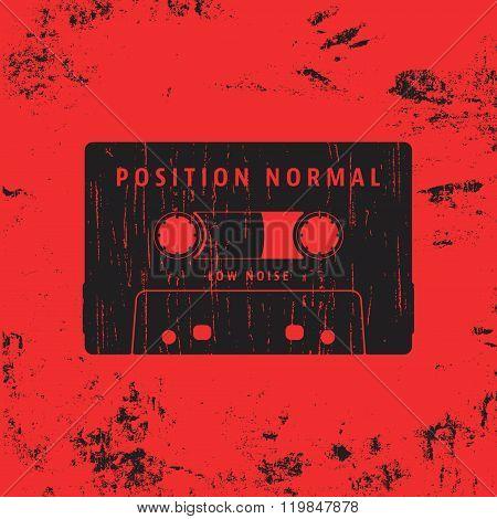 Cassette Vintage Stamp