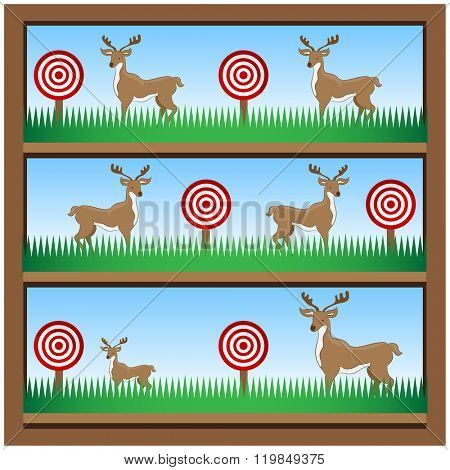 An image of deer hunting shooting gallery.