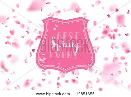 Vector Spring Falling Petals Background.