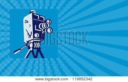 Business Card Vintage Film Movie Camera Retro