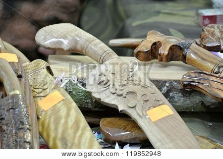 Traditional Malay machete called parang