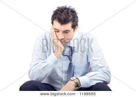 Portrait Of A Disappointed Businessman