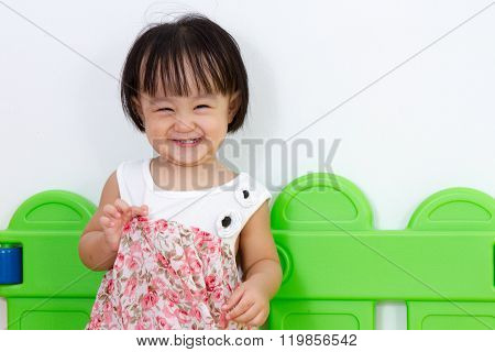 Asian Little Chinese Girl Smiling