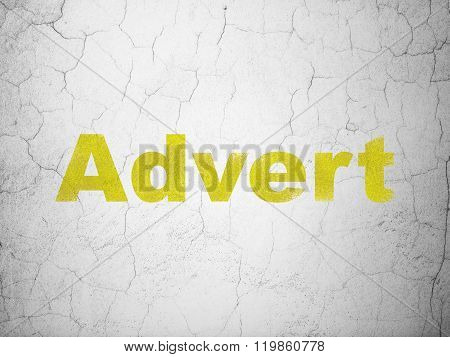 Advertising concept: Advert on wall background