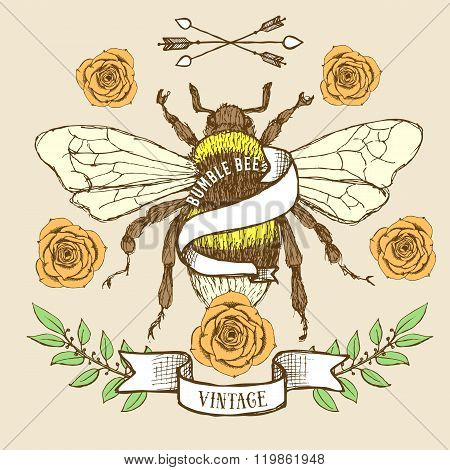 Bumble Bee Poster Template