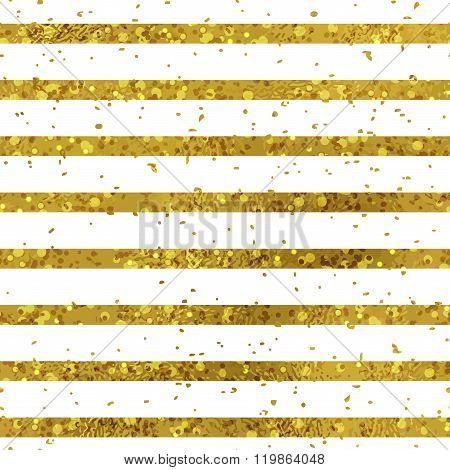 Golden striped seamless pattern set