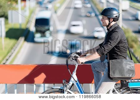 Commuter Riding E-bike