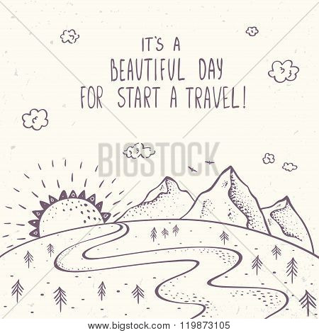 mountains and traveling