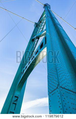 Lion's Gate Bridge Suspension Tower, Vancouver, Bc