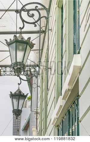 Antique Decorated Lamps In Las Penas Guayaquil Ecuador